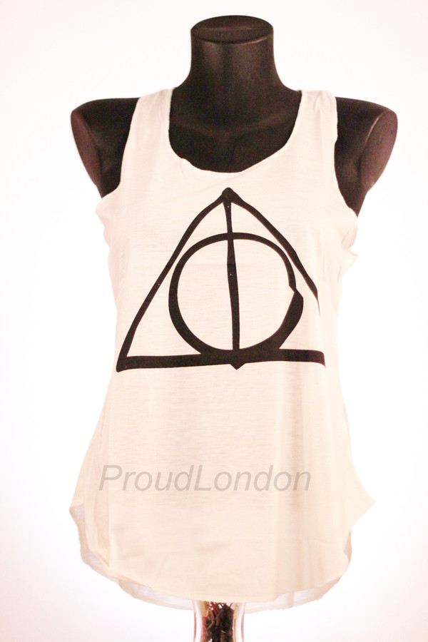 tank top harry potter harry potter and the deathly hallows harry potter and the deathly hallows blouse cream