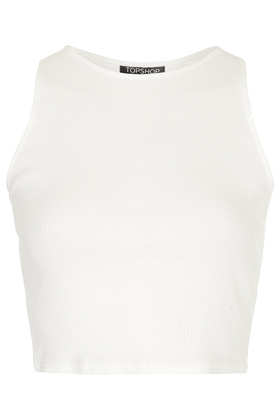 Rib Cutaway Tank Top - Tops  - Clothing  - Topshop