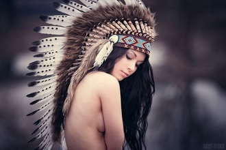 hair accessories feathers native american headdress natural