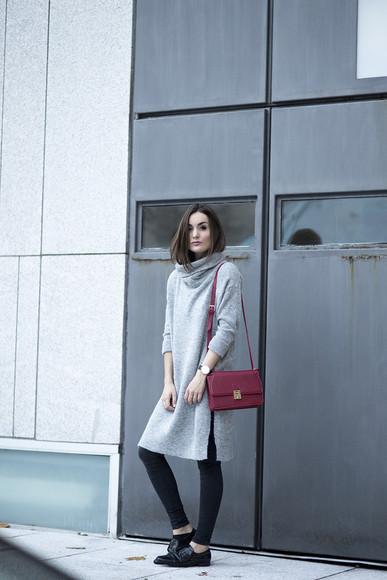 oxfords blogger jewels bag jeans anouska proetta brandon grey knitwear