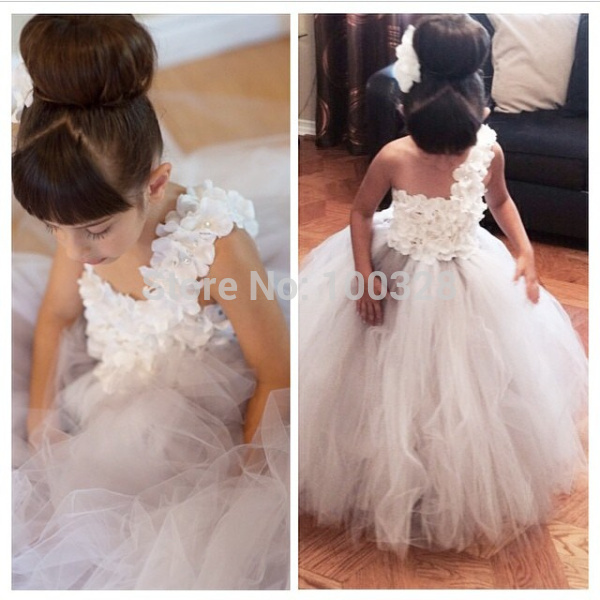 Aliexpress.com : buy custom made floor length sleeveless one shoulder appliques ball gown flower girl dresses girl's pageant dresses new arrive from reliable dresses mother suppliers on rose wedding dress co., ltd
