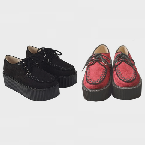 High suede creepers · just fashion ·