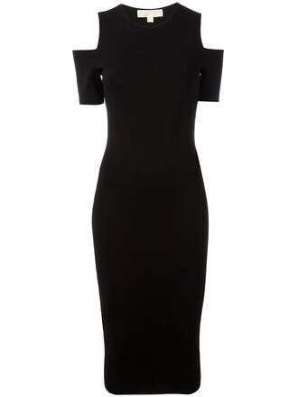 dress midi dress women midi cold black