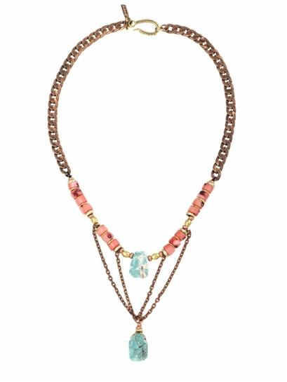 Vanessa Mooney Bara Necklace in Coral