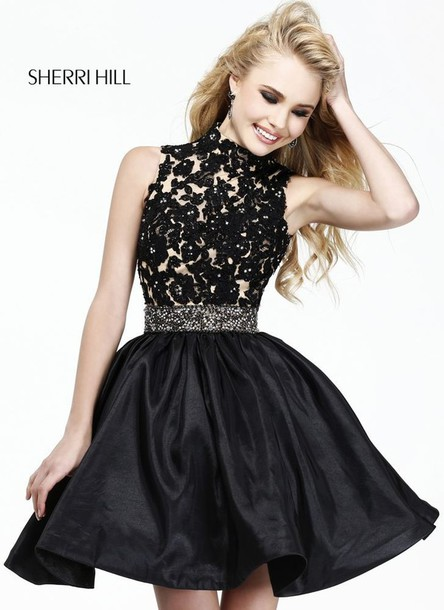dress black lace dress black