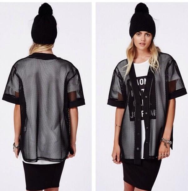 t-shirt mesh jersey mesh black