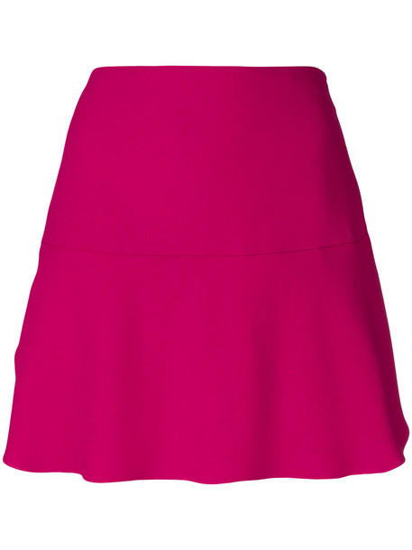 Red Valentino mini a-line skirt - Pink & Purple