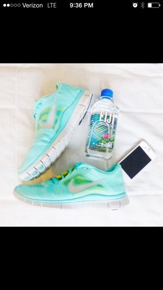 shoes mint running shoes cute