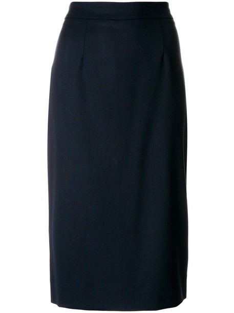 P.A.R.O.S.H. skirt pencil skirt women classic spandex blue wool