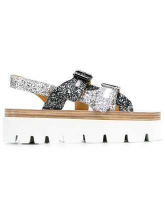 glitter sandals platform sandals grey shoes