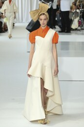 dress,asymmetrical,asymmetrical dress,delpozo,nyfw 2017,ny fashion week 2017,runway