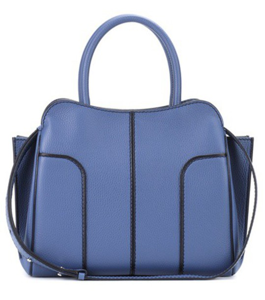 TOD'S bag shoulder bag leather blue