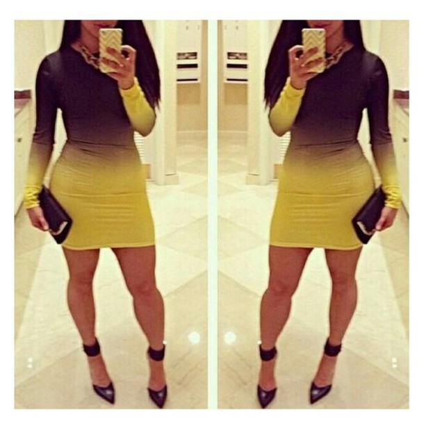 dress short dress yellow dress black dress club dress