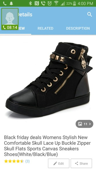 shoes black sneakers high top sneakers skull