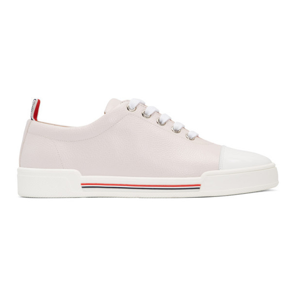 Thom Browne Pink Toe Cap Trainer Sneakers