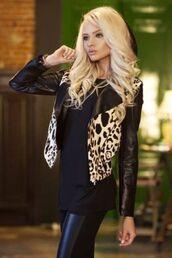 jacket,print,leopard print,beautiful,alena shishkova,style