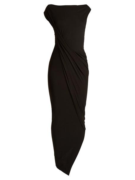 Vivienne Westwood Anglomania dress jersey dress draped black