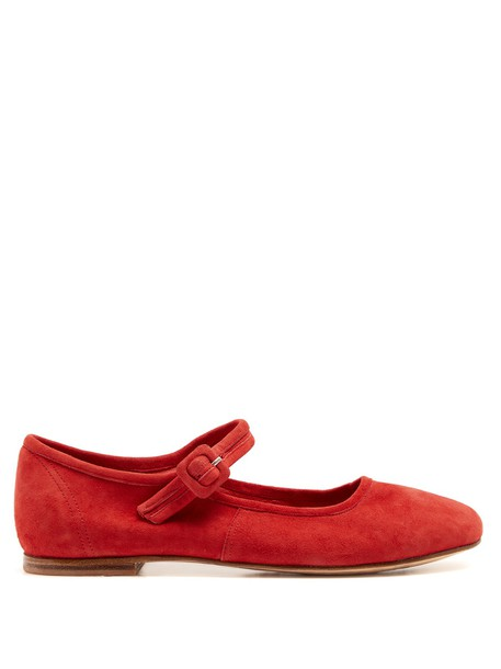 MARYAM NASSIR ZADEH ballet flats ballet flats suede red shoes