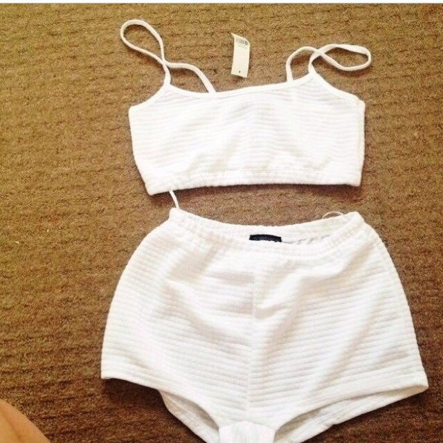 Thinking about selling my size 8 white topshop waffle coord! ...