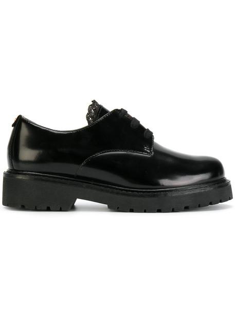 Twin-Set women shoes lace-up shoes lace leather black