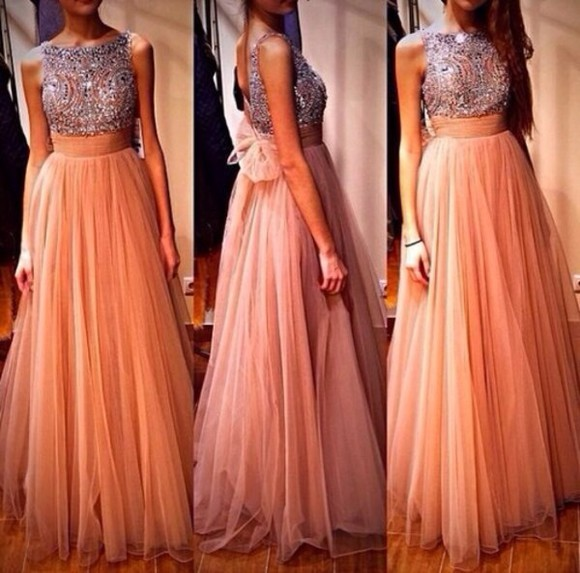 dress rose cute pretty beautiful glamour prom long dress stylish sexy