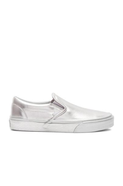 VANS metallic classic silver shoes