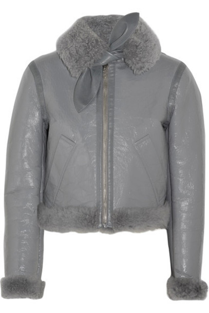 Balenciaga jacket shearling jacket leather