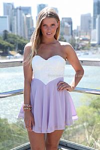 THE PERFECT FAMILY  2.0 DRESS , DRESSES, TOPS, BOTTOMS, JACKETS & JUMPERS, ACCESSORIES, 50% OFF SALE, PRE ORDER, NEW ARRIVALS, PLAYSUIT, COLOUR, GIFT VOUCHER,,CUT OUT,BACKLESS,Purple,STRAPLESS Australia, Queensland, Brisbane