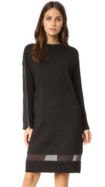Rag & Bone Aimee Zipper Sweater Dress - Black