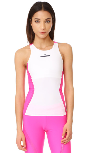 Adidas By Stella Mccartney Run Tank - White/Shock Pink