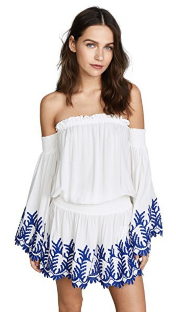 ramy brook dress white blue
