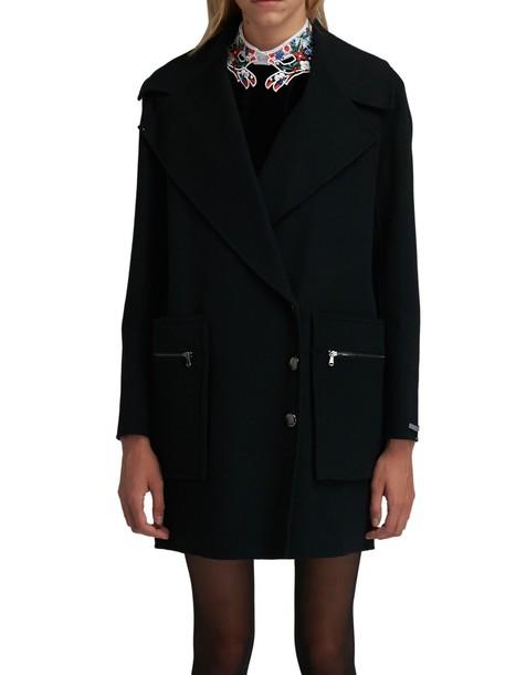 Sportmax coat wool coat black wool