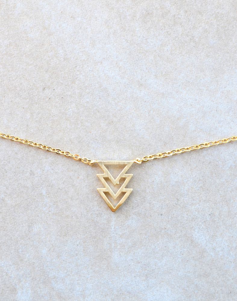 Triangulate necklace