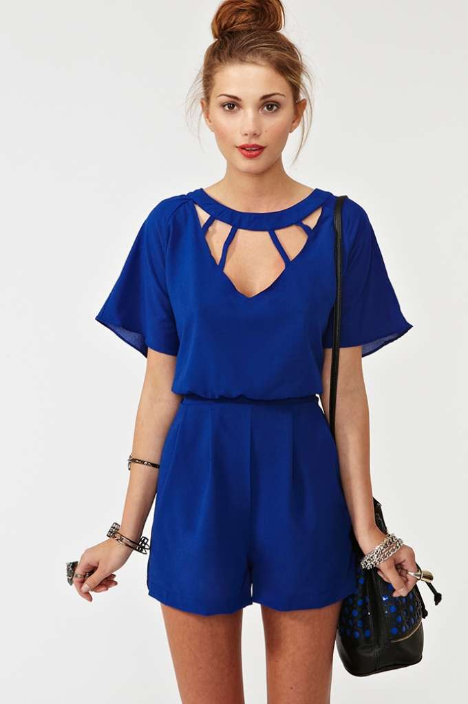 Back Out Romper  in  Clothes at Nasty Gal
