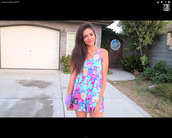 dress,clothes,floral,floral dress,printed dress,colorful dress,youtube,blue dress