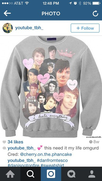 grey band merch sweater