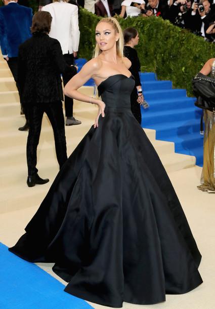 dress maxi dress gown prom dress bustier dress candice swanepoel met gala met gala 2017 model