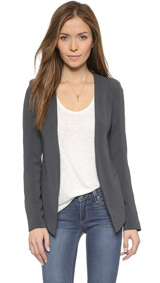 blazer blue charcoal jacket