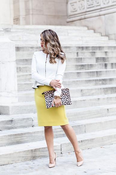 yellow blogger bag the corporate catwalk jacket tailoring