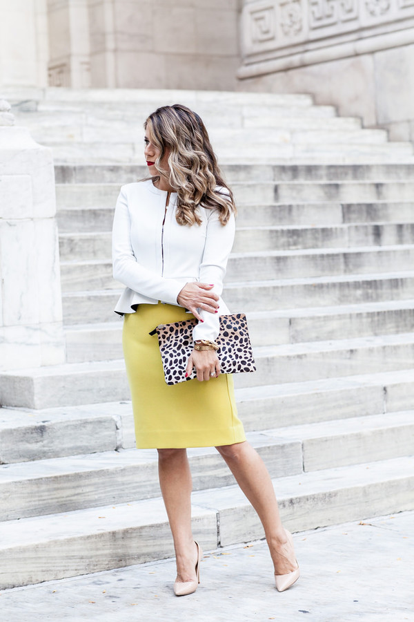 the corporate catwalk blogger jacket bag yellow tailoring