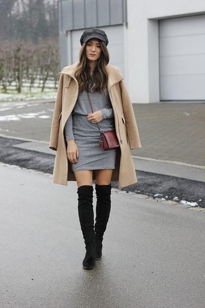 seekingsunshine blogger dress shoes coat hat bag make-up