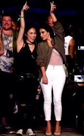 jacket,kim kardashian,outfit,pants,white,see through top,kardashians