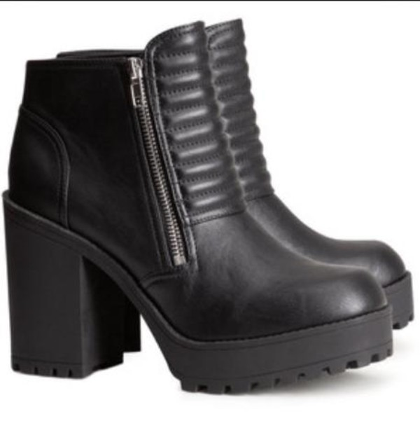 shoes boots heels black grunge soft grunge