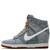 Nike x Liberty Light Blue Lora and Anoosha Liberty Print Dunk Sky Hi Wedge trainers | Shoes by Nike x Liberty | Liberty.co.uk
