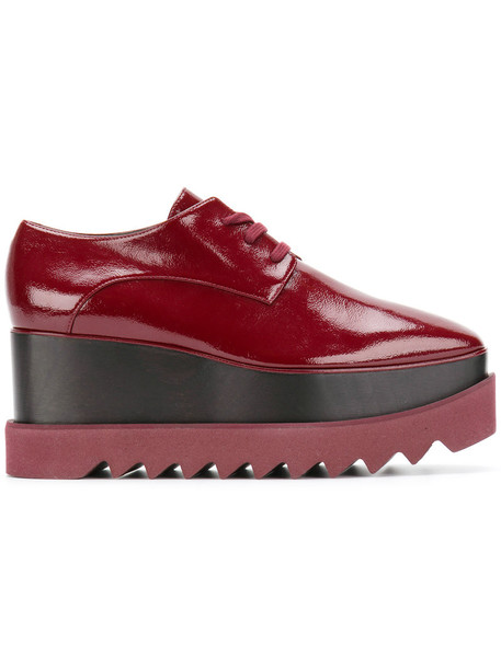 women shoes platform shoes leather red
