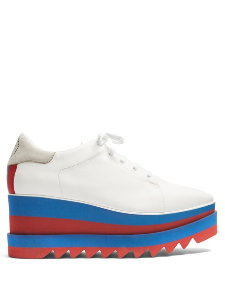 Stella McCartney shoes platform shoes lace leather white