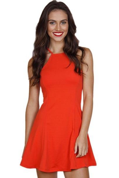 3bef5ed231 red dress red skater dress skater dress halter top dress bright red dress  www.ustrendy