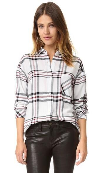 shirt button down shirt navy blanc top