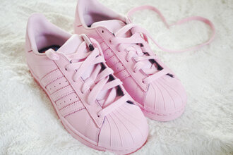 shoes adidas tumbllr adidas supercolor light pink