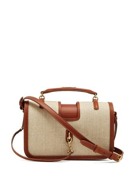 Saint Laurent canvas bag bag leather cream